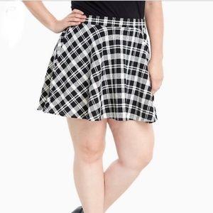 Torrid   Double Knit Plaid Mini Skirt